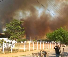 Zona Sudeste de Teresina tem 13 áreas de risco de incêndio.(Imagem:CidadeVerde.com)