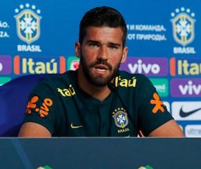 Alisson defende árbitro de vídeo na Copa e treinos fechados da seleção.(Imagem:Pedro Martins)