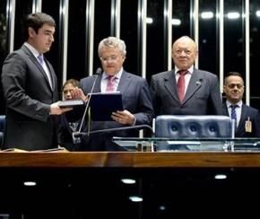 Elmano Férrer se licencia e José Amauri assume vaga no Senado.(Imagem:Jefferson Rudy/Agência Senado)