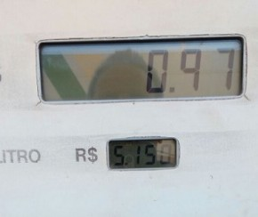 Gasolina no Piauí supera preço médio da ANP e chega a R$ 5,15 em Corrente.(Imagem:Cidadeverde.com)