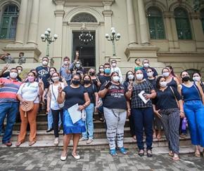Enfermeiros protestam por corte na insalubridade do setor Covid(Imagem:Divulgação)