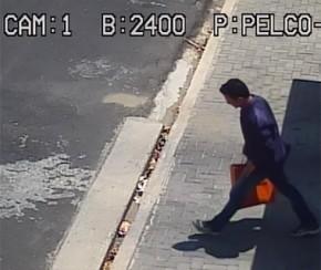 Imagem do suspeito em ação no bairro Morada do Sol.(Imagem:Cidadeverde.com)