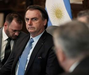 Bolsonaro critica possível vitória da esquerda na Argentina.(Imagem:Folha Press)