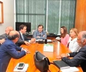 Em Brasília, governadora em exercício se reúne com deputado Rodrigo Maia.(Imagem:Cidadeverde.com)