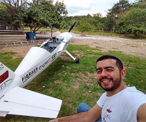 Pesquisador piauiense desenvolve protótipo de avião com propulsão elétrica.(Imagem:Arquivo pessoal)