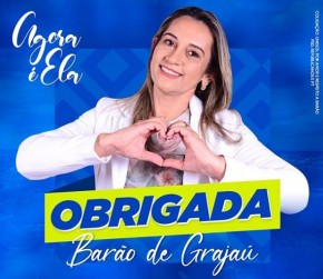 Claudimê é eleita prefeita de Barão de Grajaú(Imagem:Divulgação)