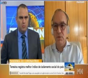´Nós já passamos do pico do Covid-19´, afirma prefeito Firmino Filho em entrevista(Imagem:Reprodução)