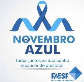 FAESF apoia a campanha Novembro Azul.(Imagem:FAESF)