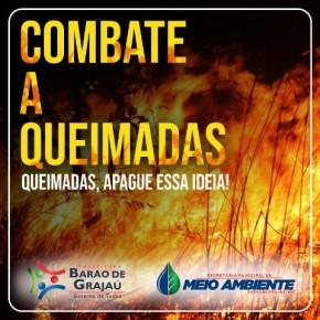 Secretaria alerta sobre perigo de queimadas em Barão de Grajaú.(Imagem:SEMMA)