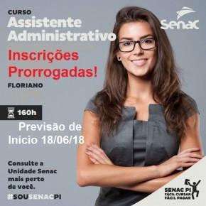 Senac de Floriano oferece Curso de Assistente Administrativo.(Imagem:Divulgação)