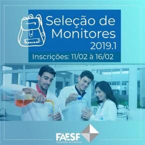 FAESF divulga edital para vagas de monitorias do semestre 2019.1.(Imagem:Divulgação)