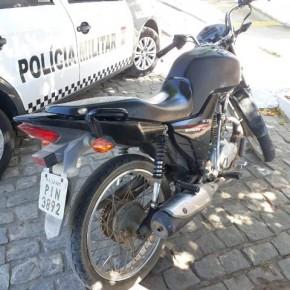 Moto roubada em 2017 em Floriano é recuperada no Rio Grande do Norte.(Imagem:Nosso Paraná RN)