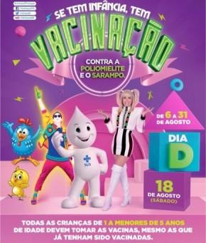 Saúde promove dia D de vacinação contra Poliomielite e Sarampo em Floriano.(Imagem:Divulgação)