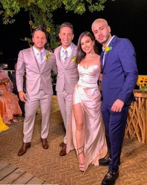 Flavia Pavanelli e Kevinho reatam no casamento de Carlinhos Maia.(Imagem:Instagram)