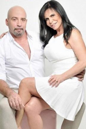Gretchen e o português Carlos Marques.(Imagem:Divulgação)