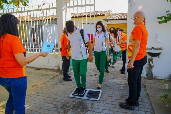 Escolas do Piauí adotaram protocolos para retorno das aulas presenciais. (Imagem:Divulgação/Seduc)
