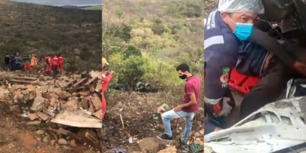 Carreta tomba em serra e deixa um morto e outro ferido no sul do Piauí.(Imagem:Divulgação)