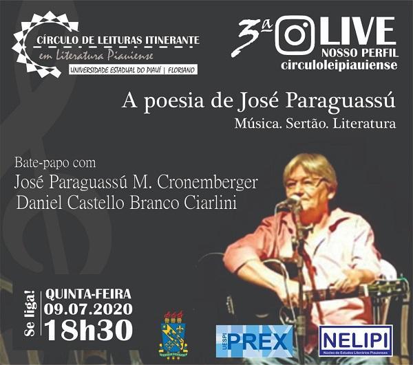 Live José Paraguassú(Imagem:Divulgação)