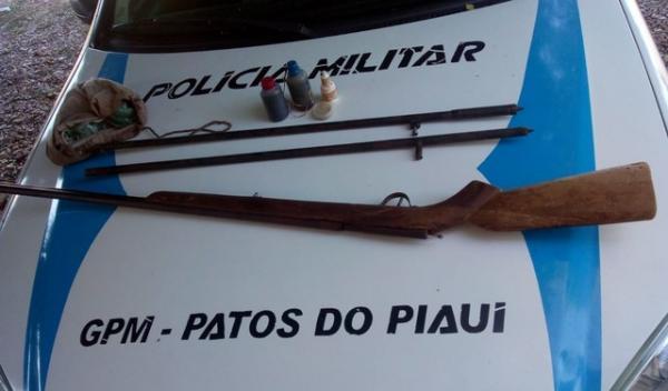 Pai atira no próprio filho no interior do Piauí.(Imagem:Divulgação/PM-PI)