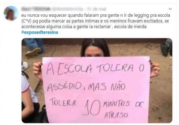 Polícia abre inquérito para investigar denúncias de assédio no #exposedteresina(Imagem:Reprodução)