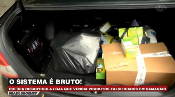 Carnaúba Amarga: Polícia desarticula loja que vendia produtos falsificados.(Imagem:Divulgação)