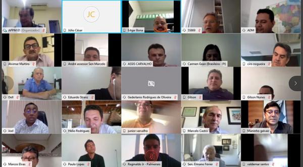 Prefeitos e senadores do Piauí debatem sobre eleições 2020.(Imagem:APPM)