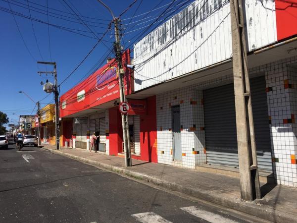 Comércio de Teresina deve permanecer fechado.(Imagem:Murilo Lucena/TV Clube)