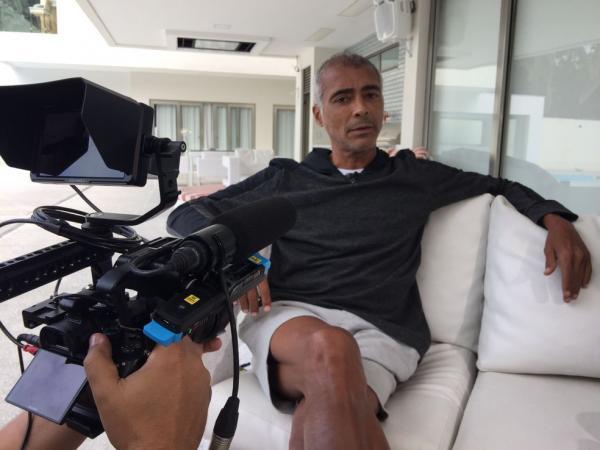 Romário em entrevista ao Globo Esporte(Imagem:Guilherme Oliveira)