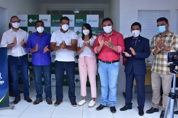Vacinados contra a Covid-19 em Floriano.(Imagem:Secom)