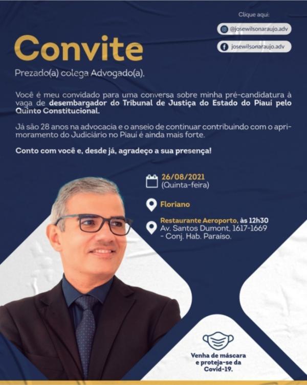 José Wilson Araújo promove reunião com advogados de Floriano(Imagem:Divulgação)