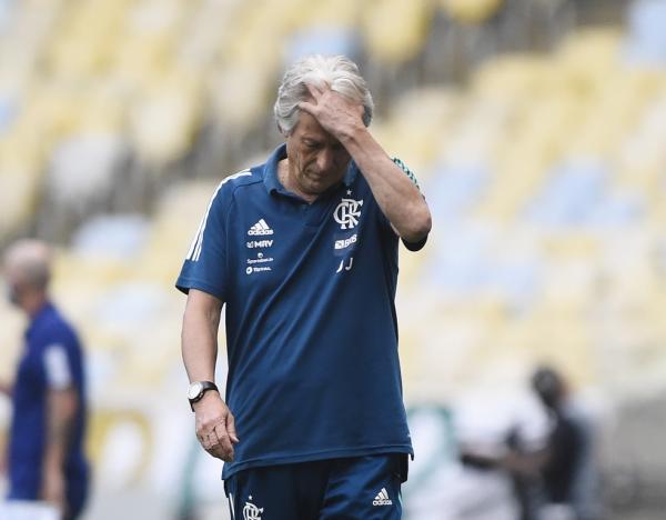 Jorge Jesus, técnico do Flamengo.(Imagem:André Durão)