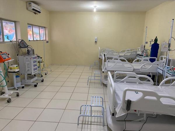 Setor para atendimento de pacientes com Covid-19 no Piauí.(Imagem:Divulgação/Sesapi)