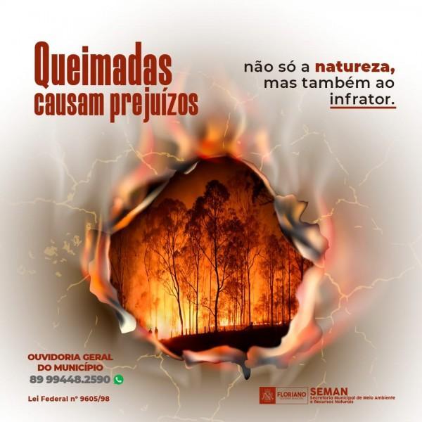 SEMAN lança campanha NÃO às queimadas, SIM a vida e saúde!(Imagem:Divulgação)