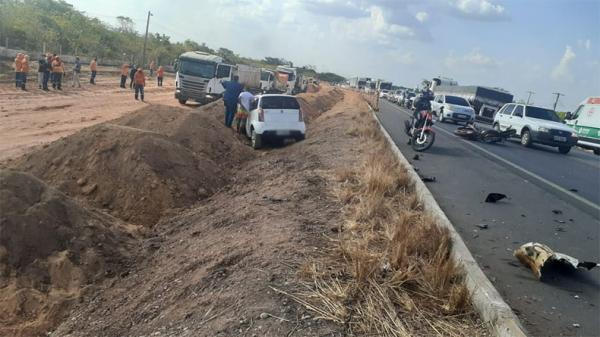 Carro invade pista contrária e mata motociclista na BR-316(Imagem:Divulgação)