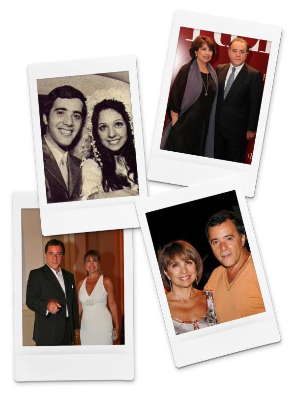 Tony Ramos e Lidiane Barbosa: casados desde setembro de 1969.(Imagem:Arquivo Pessoal)
