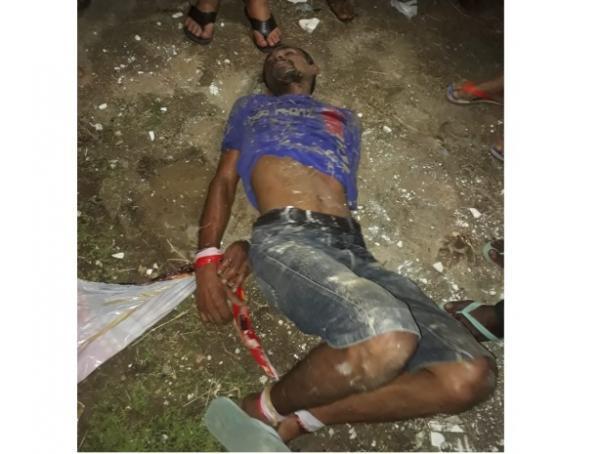 Homem é espancado após tentativa de roubo em Floriano.(Imagem:Reprodução)