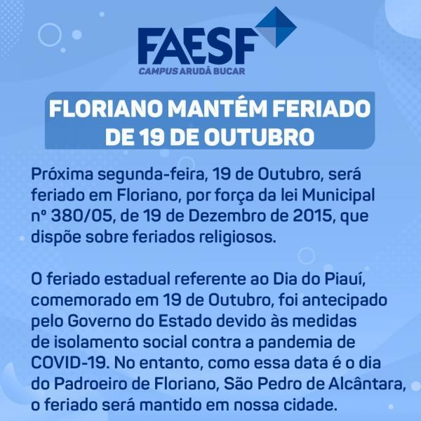 Comunicado FAESF(Imagem:Divulgação)