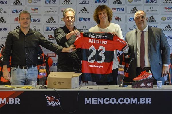 Flamengo apresenta oficialmente David Luiz como novo reforço(Imagem:Marcelo Cortes)