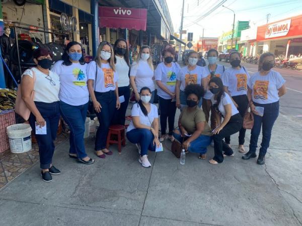 SEMDAS realiza ação de combate ao trabalho infantil no mercado Público de Floriano(Imagem:Divulgação)