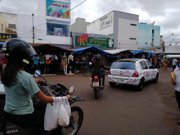 Grande movimentação é registrada no Centro de Picos.(Imagem:Divulgação /TV Clube)