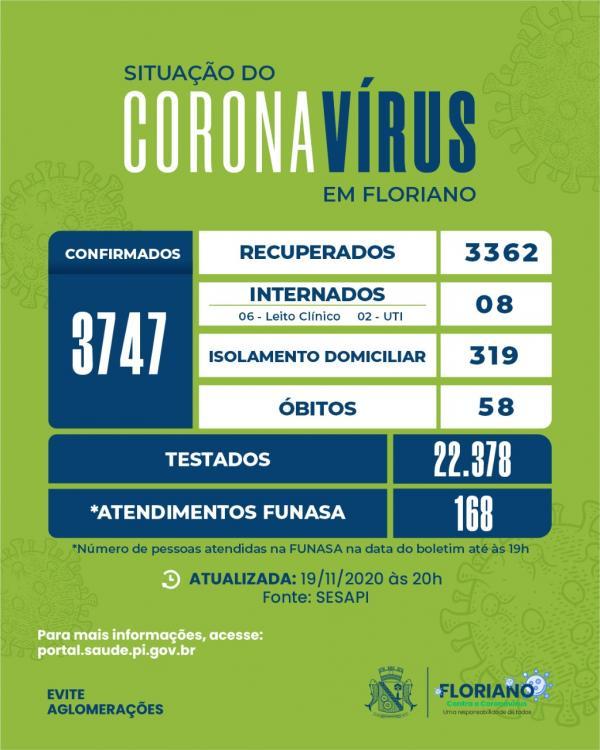 Boletim contabiliza 168 pessoas atendidas no Centro de Referência Gripal em Floriano(Imagem:Divulgação)