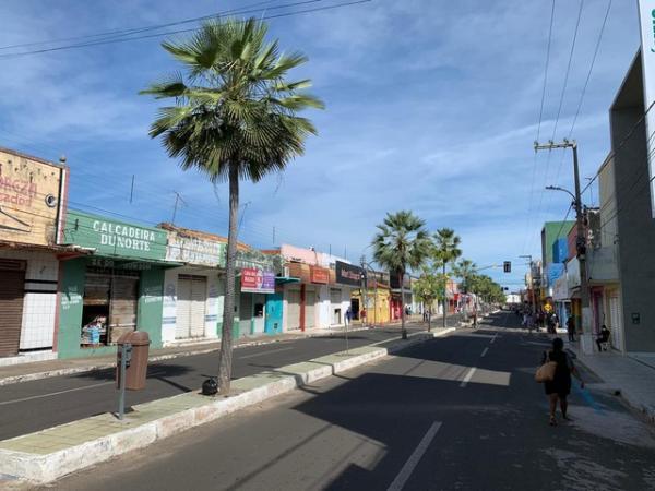 Lojas do Centro comercial de Campo Maior, no Piauí, devem retornar ao funcionamento.Divulgação/Ascom Prefeitura de Campo Maior(Imagem:Divulgação/Ascom Prefeitura de Campo Maior)