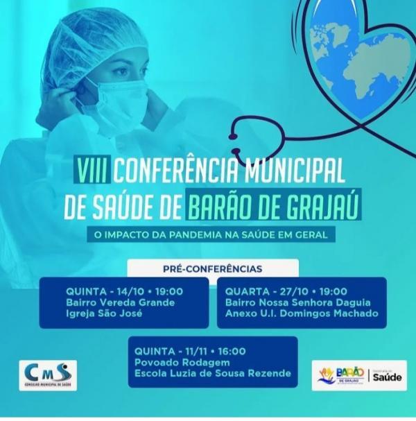 Barão de Grajaú realiza VIII Conferência Municipal de Saúde(Imagem:Divulgação)