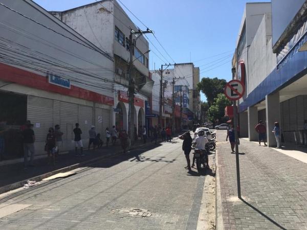 Centro de Teresina durante o isolamento social.(Imagem:Murilo Lucena /TV Clube)