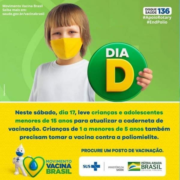 Dia D de vacinação acontece neste sábado em Floriano.(Imagem:Dvulgação)
