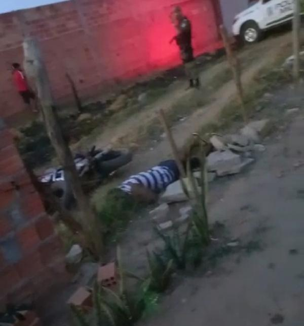 A vítima, logo após o crime.(Imagem:Reprodução)