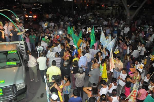 Em Floriano, Zé Filho é recebido com grande festa e une grupos políticos rivais.(Imagem:Ascom)