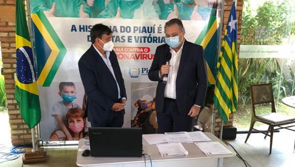 Wellington anuncia retomada das obras da UPA e Policlínica de Floriano.(Imagem:Ccom)