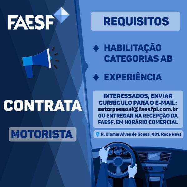 Faesf Contrata(Imagem:Divulgação)