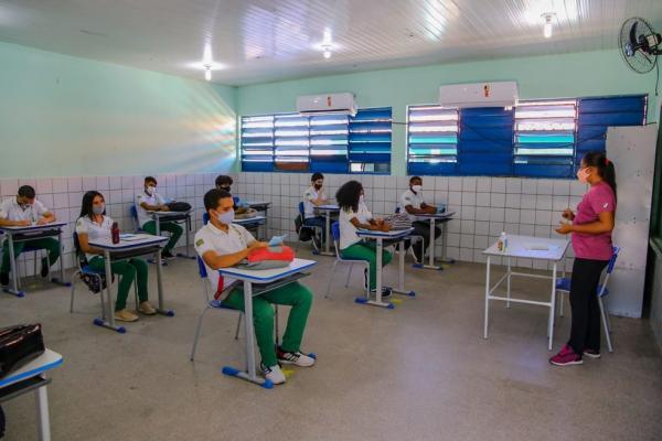Escolas da rede estadual retomam as aulas presenciais no Piauí.(Imagem:Divulgação/Seduc)